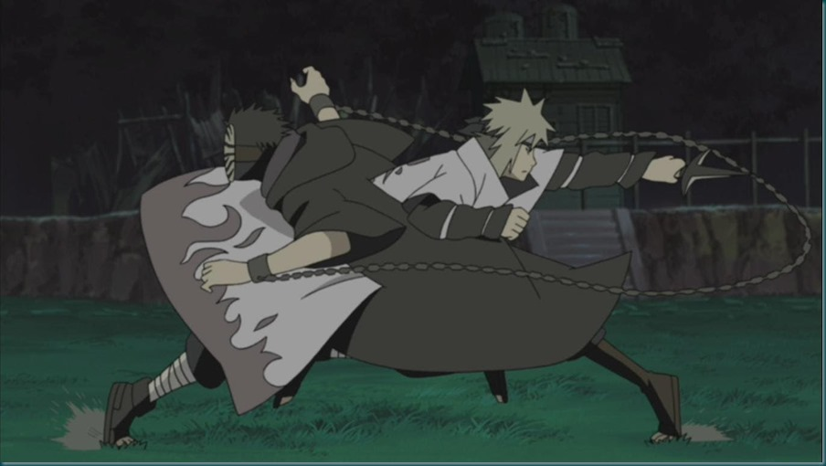 Minato vs Tobi (Kamui)
